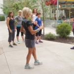 Sharon Starika working with participants at Run Like A Girl 2012