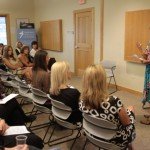 Sharon Starika speaking at the Park City Women's Business Network
