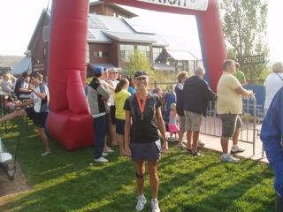 Sharon Starika at the Park City Half Marathon